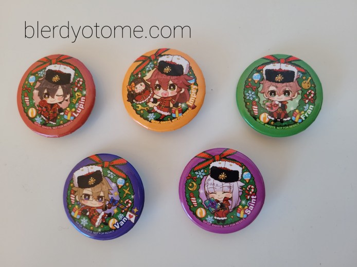 Five character button