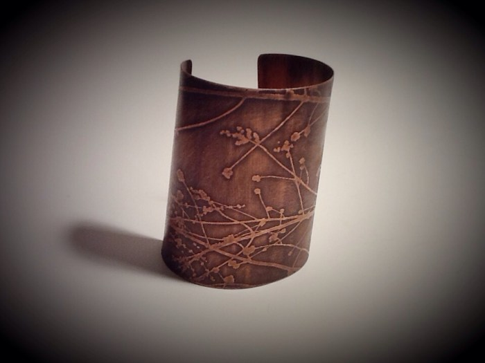 "3"" Wide Cuff- Cherry Tree, Small-Med."