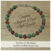 Turquoise Magnesite & Dyed Agate Bracelet