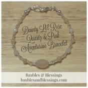 Dainty Li'l Rose Quartz & Pink Aventurine Bracelet