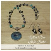 Custom Orca Set for Heather with Sodalite, Blue Labradorite, Lapis, Magnesite Hearts, Stardust Beads, Glass Crystals & Ceramic Orca Beads