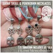 Sugar Skull & Pentagram Necklaces