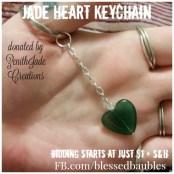 Jade Heart Keychain