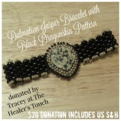 Dalmation Jasper Bracelet with Dragonskin Pattern by The Healer's Touch