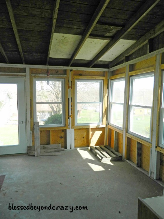 unfinished sunroom