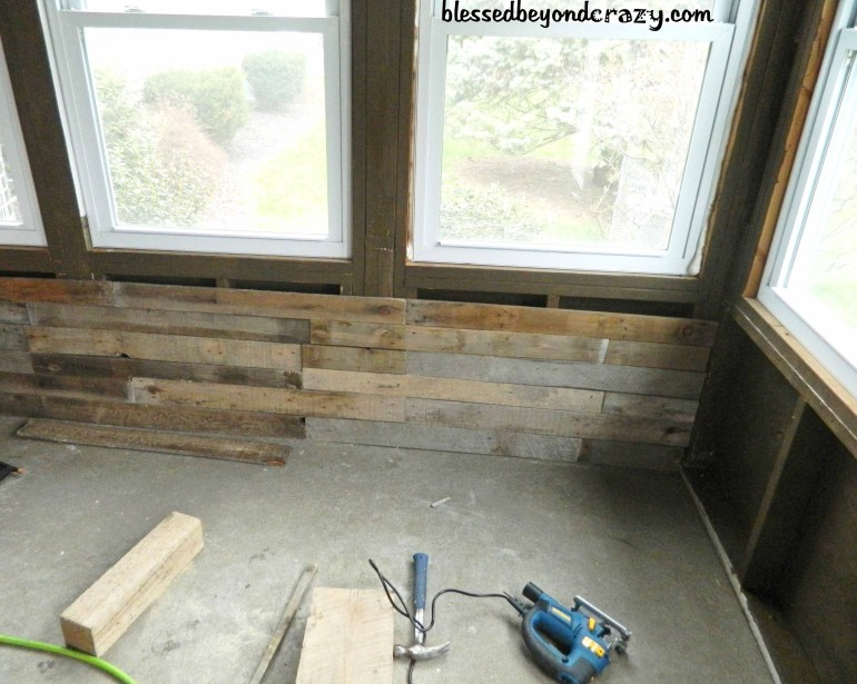 pallet boards on walls