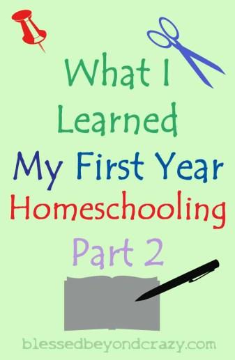first year homeschooling