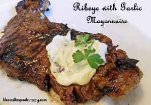 ribeye with garlic mayonaise