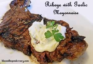ribeye with garlic mayonaise