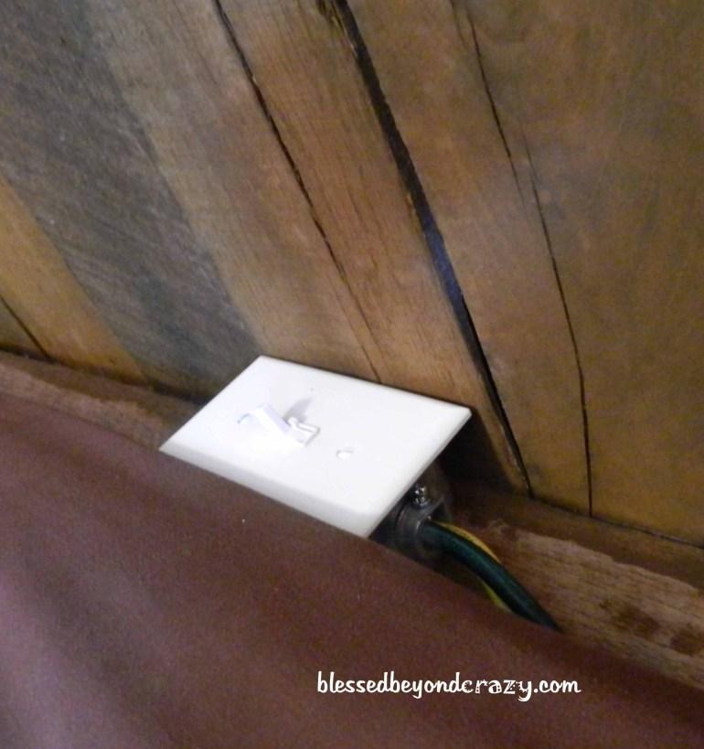 light switch on headboard