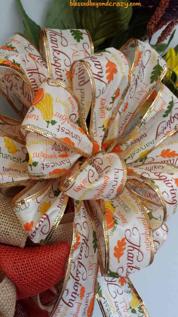 DIY Fall Burlap Wreath -