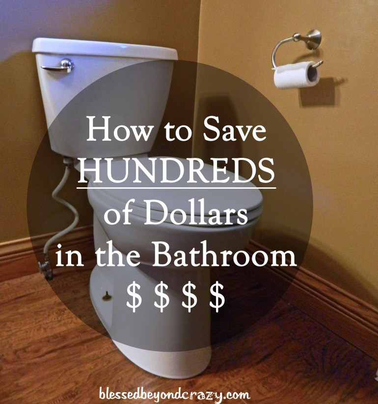 save money in bathroom