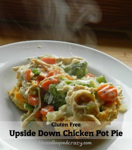 Upside Down chicken pot pie