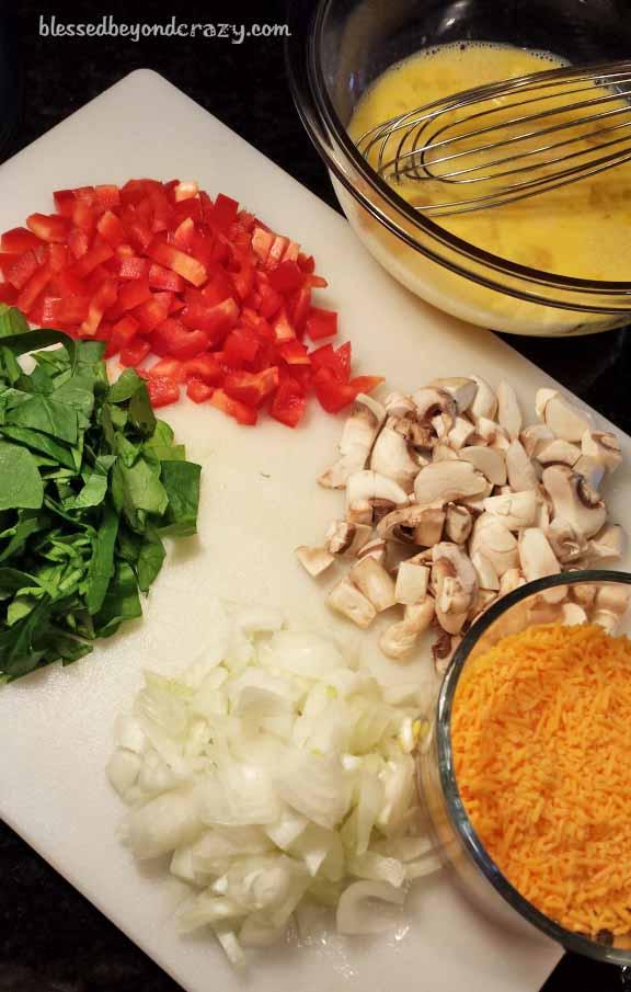 omelette toppings