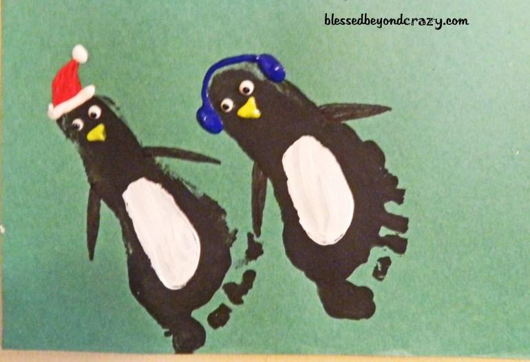 Christmas footprint art