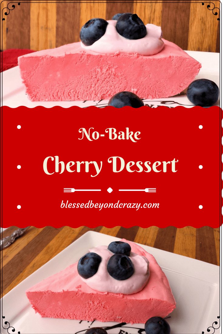 no bake cherry dessert 1