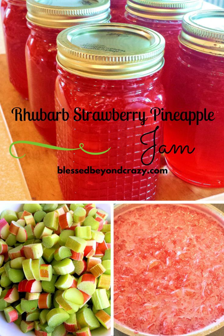 Homemade Rhubarb Strawberry Pineapple Jam