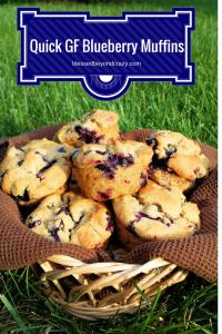 Quick Gluten Free Blueberry Muffins 1