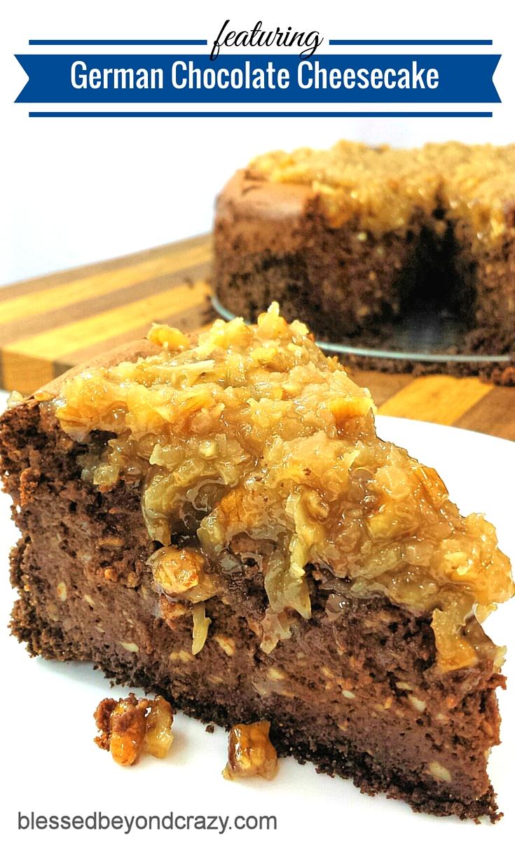German Chocolate Cheesecake -