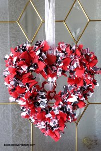 DIY Valentine's Day Rag Wreath