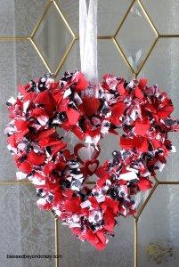 DIY Valentine's Day Rag Wreath