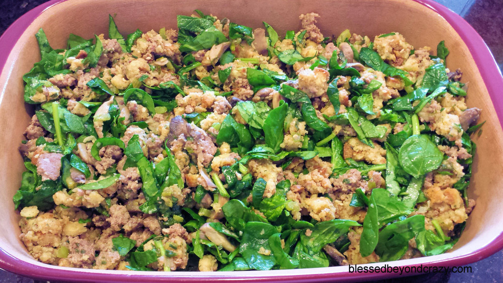 Savory Sausage Spinach Casserole 6