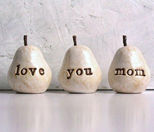 Handmade Clay Pears