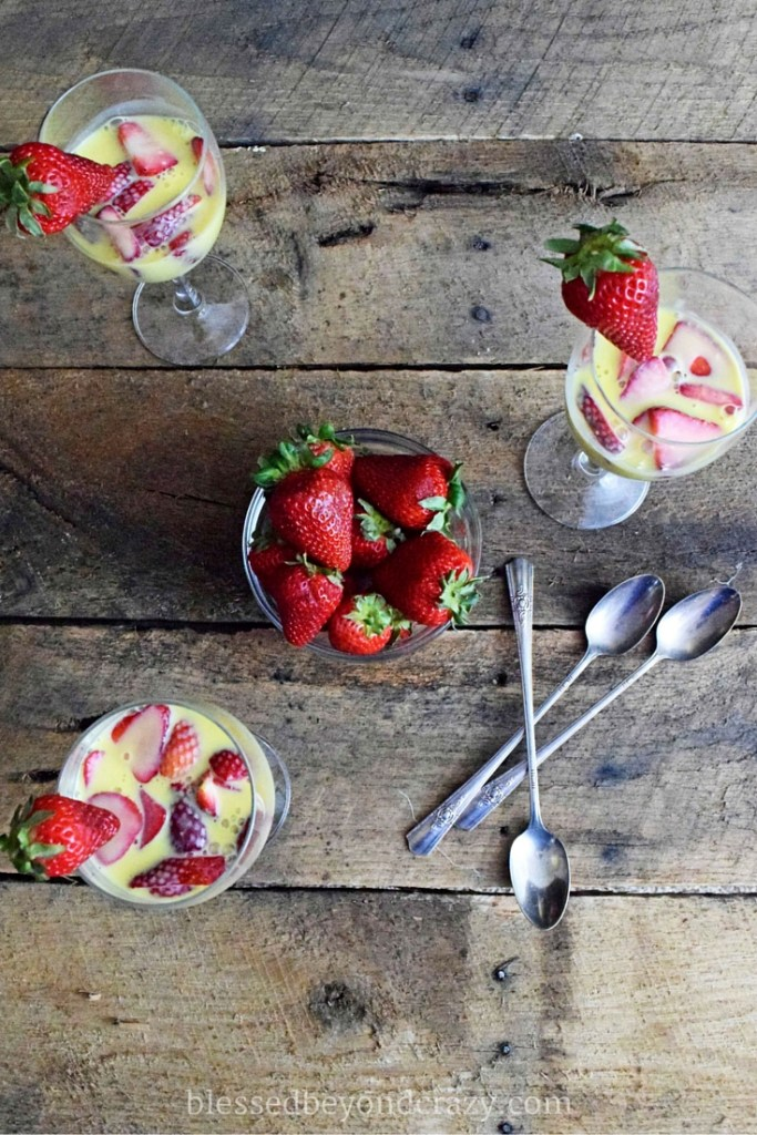 strawberry vanilla zabaione gluten free