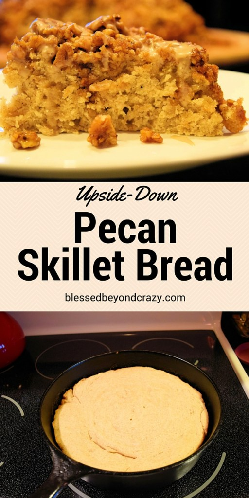 Upside-Down Pecan Skillet Bread (3)