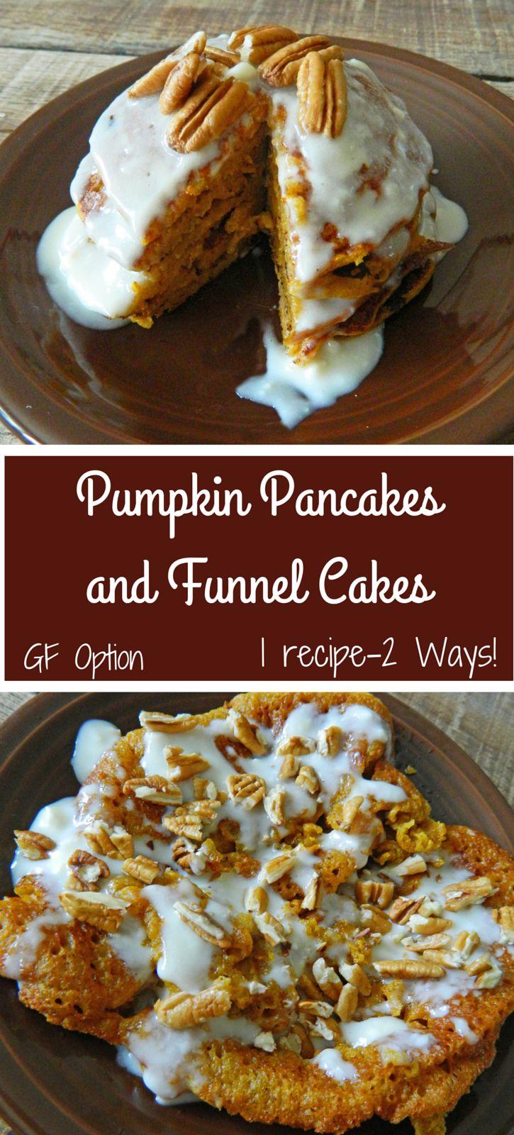 Pumpkin Pancakes & Funnel Cakes