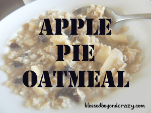 Apple Pie Oatmeal 3