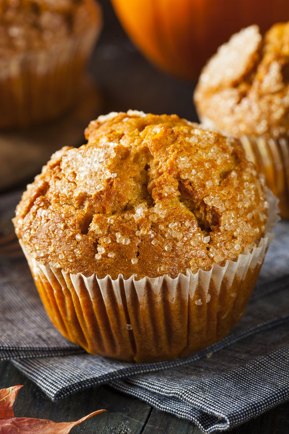 homemade simple pumpkin muffin