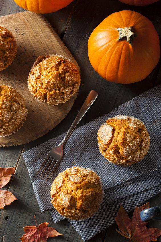 homemade simple pumpkin muffins