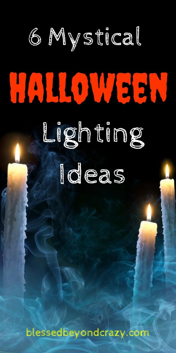 6 mystical halloween lighting ideas - Halloween Lighting Ideas
