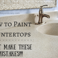 The Cheapest Kitchen Cabinets Banquette Bench How To Paint A Countertop - Don't Make These Mistakes!!!