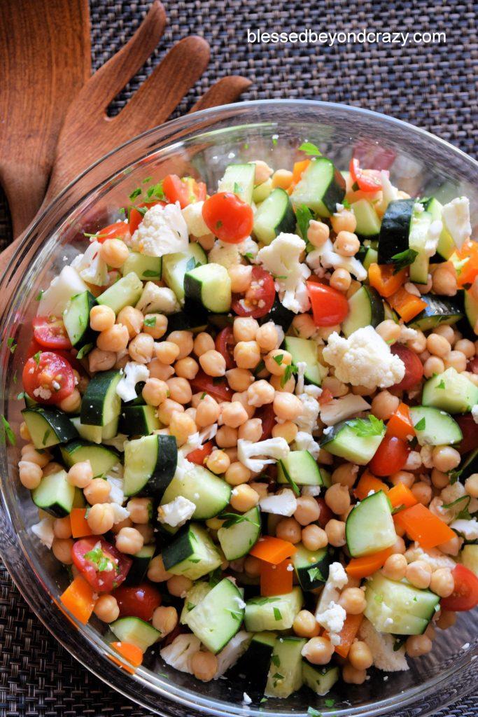Ready to serve Gluten-Free Veggie Bacon Feta Salad