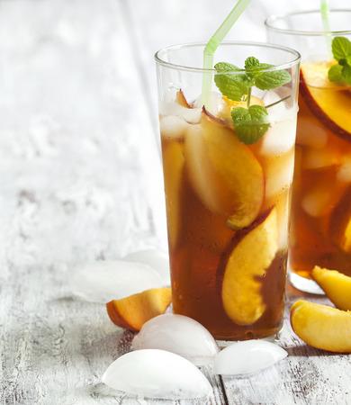 tasty homemade peach tea