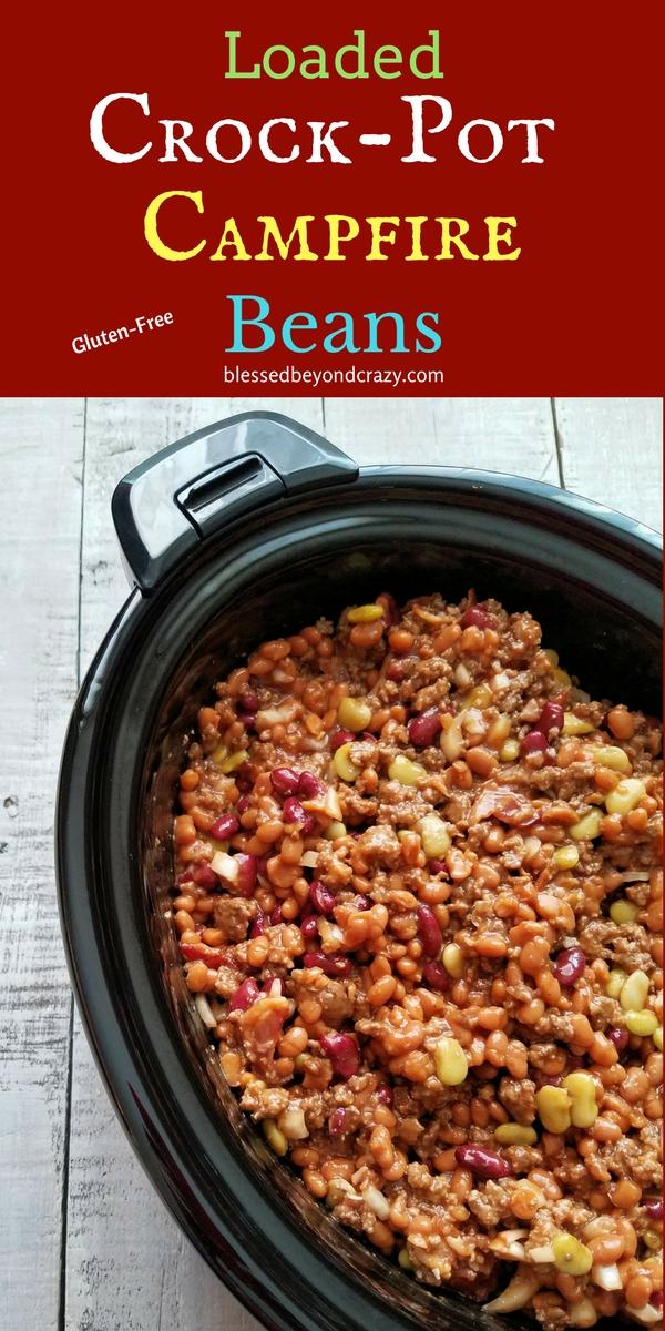 Loaded Crock-Pot Campfire Beans