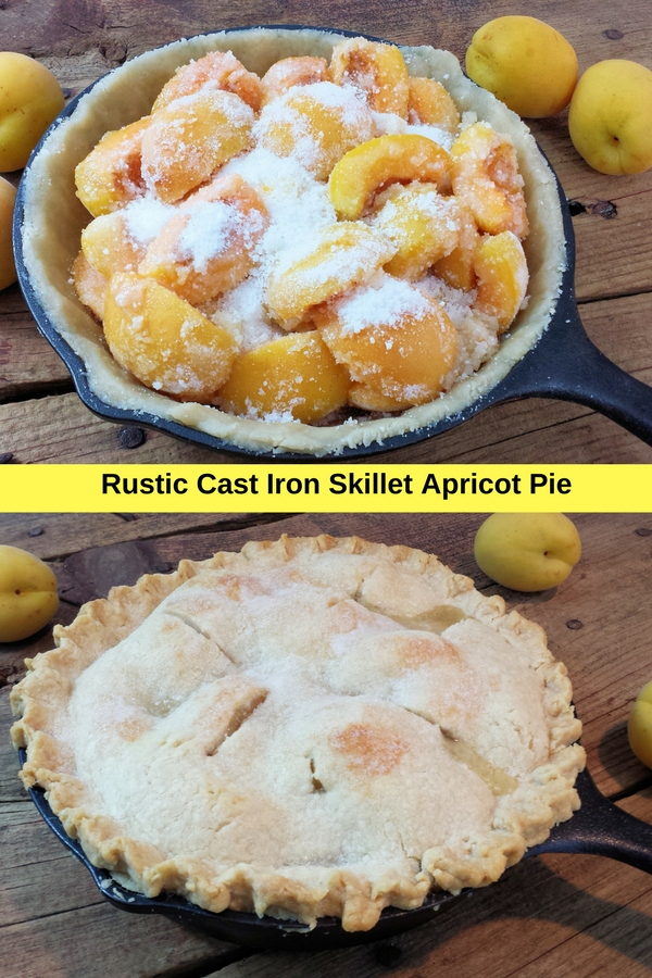 Rustic Cast Iron Skillet Apricot Pie