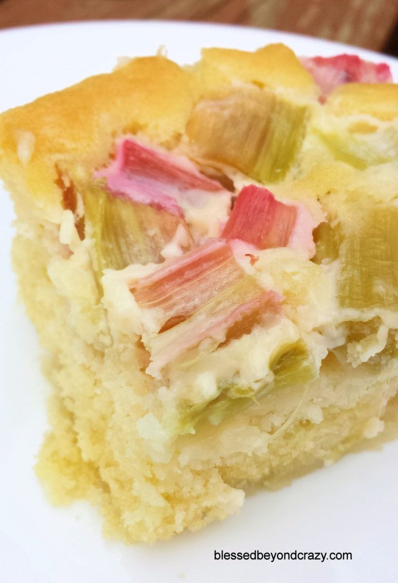 Easy Rhubarb Cake