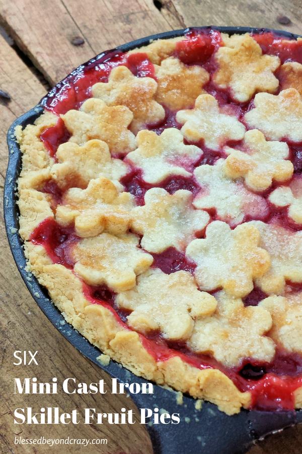 Mini Cast Iron Skillet Fruit Pies