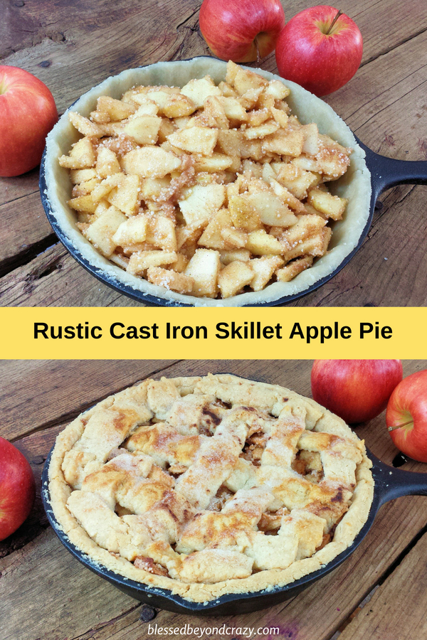 Rustic Cast Iron Skillet Apple Pie