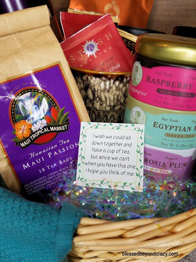 DIY Teatime Gift Basket
