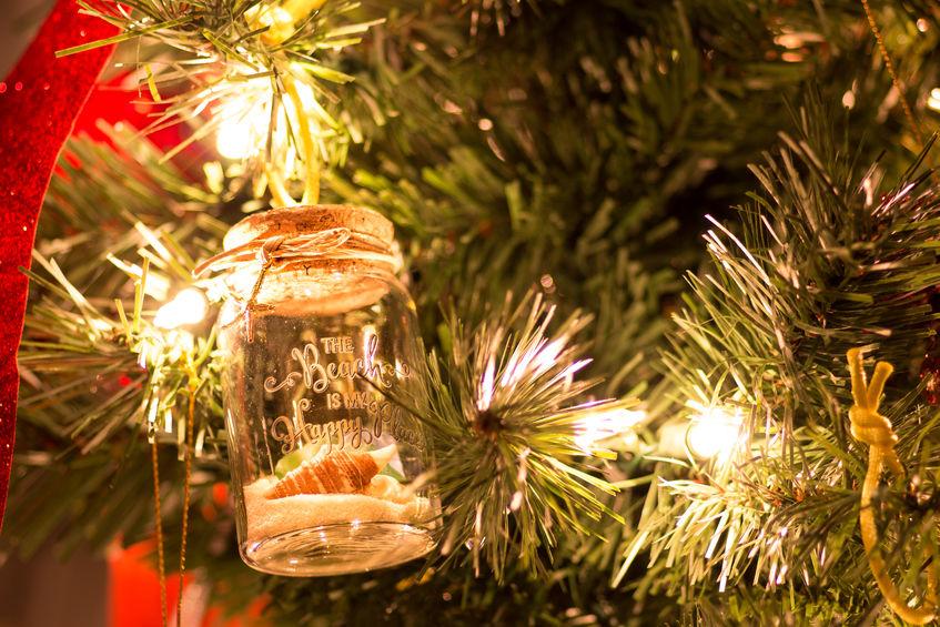 Mason jar ornament