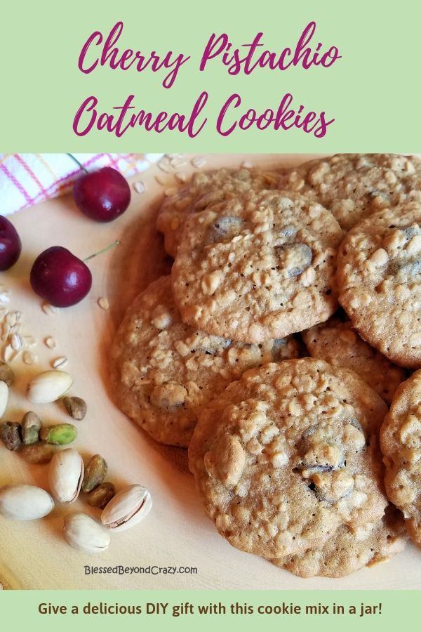 DIY Cherry Pistachio Oatmeal Cookies