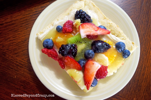 Single serving of The Ultimate Loaded Fruit Pizza