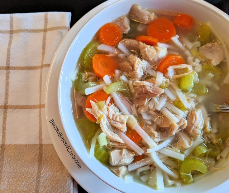 All-Natural Homemade Chicken Noodle Soup