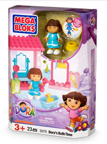 Mega Bloks Dora Playset: Dora's Bathtime {Review}