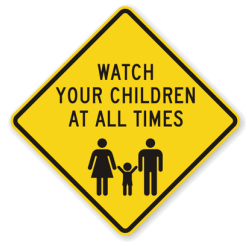 child safety sign