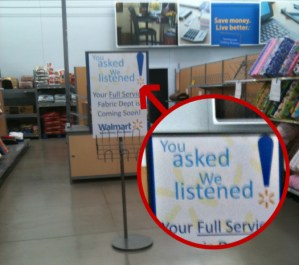 Walmart Listens to Shoppers